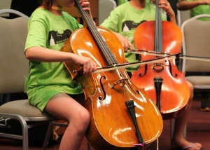Austin Suzuki Institute cello players